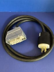 Boc Edwards Iq Pump Electrical Power Cord W/ Hdc-hsb-6bs And Hubbell 250v Plug