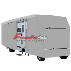 Waterproof Travel Trailer Rv Cover Fits Trailer Camper 22and039-24and039 W/ Zipper