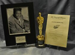 Fats Domino Certified Signed Autographed Vintage 16 X12 Display + Coa