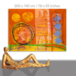 Abstract Paintings Modern Art Wall Hand Painted Canvas Decor Zen 78 X 55