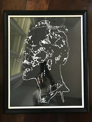 Vintage Mid Century Abstract Block Print Lithograph Nude Woman Signed Titled