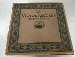 New Victor Records Orthophonic Recordings Book - Includes 6 Records See Details