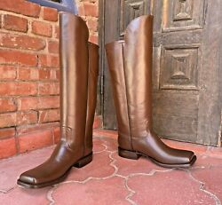 Brown Leather Officer Boots Menand039s Size 11d Civil War Reenactment Caboots