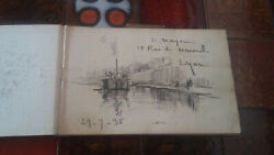Rare Carnet Drawing 40 Sketches Signed Landeacuteon Moyse 1873-1955