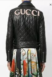 Gucci Leather Biker Jacket-With Tags- RRP$6,582
