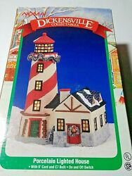 Dickensville Collectables Christmas Lighted House And Lighthouse Porcelain 11