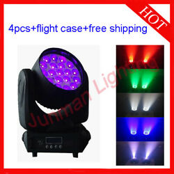 1915w Rgbw 4 In 1 Led Beam Wash Zoom Moving Head Stage Light 4pcs With Case