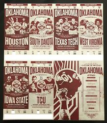 2019 Oklahoma Sooners Football Collectible Ticket Stub - Choose Any Home Game