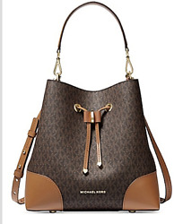 🌺🌹Michael Kors Medium Mercer Gallery Convertible Bucket Leather Shoulder Bag $285.00
