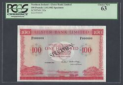 Northern Ireland 100 Pounds 1-10-1982 P330s Specimen Uncirculated