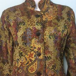 Coldwater Creek Tapestry Jacket Size XS Ships Free