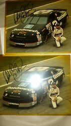 Dale Earnhardt Sr. Signed In Person 8x10 Nascar Sundrop Dinner X2 Autographed