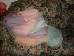 Vintage New Collectible Huge Lot Multicolor Tulle Crafts Fabric Yarn