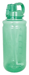 EXQUIS 101 OZ Tritan Outdoor Workout Water Bottle with Carry Handle Locking Lid