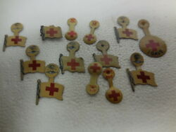 Vintage Lot Of 13 Red Cross-i Gave- Pin Gadget-wwi War