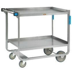Lakeside 953 Heavy-duty Stainless Steel Two Shelf Traditional Utility Cart - 48