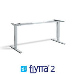 Flytta 2 Height Adjustable Electric Standing Desk With Dual Motor   Frame Only