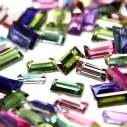 AAA++ Natural Multi Color Tourmaline Baguette Faceted Loose Gemstones All Size