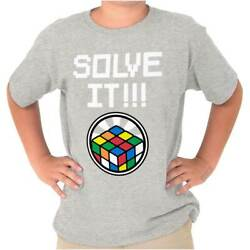 Solve It Official Rubik's Cube Graphic Gift  Youth Child T-Shirt Tshirts Tees $6.99