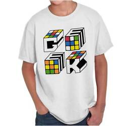 Official Rubik's Cube Geek Graphic Puzzle Gift  Youth Child T-Shirt Tshirts Tees $6.99