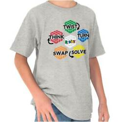 Official Rubik's Cube Brain Teaser Puzzle Gift  Youth Child T-Shirt Tshirts Tees $6.99