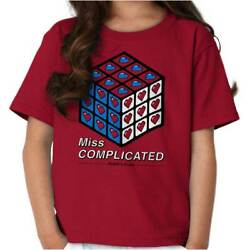 Miss Complicated Official Rubik's Cube Puzzle Youth Child T-Shirt Tshirts Tees $6.99