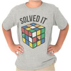 Official Rubik's Cube Brain Teaser Puzzle Nerd Youth Child T-Shirt Tshirts Tees $6.99