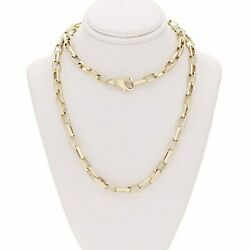 14k Yellow Gold Handmade Fashion Link Necklace 26 5mm 43.7 Grams