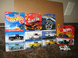 Hot Wheels Lot Of 8 And03956 Flashsider Variation 1956 Chevy Since 68 Classics Button