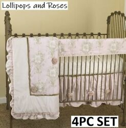 Harriet Bee Patterson 4 Pc Crib Bedding Set Lollipops And Roses