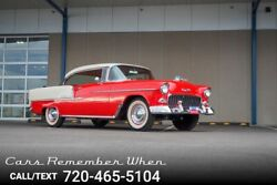 1955 Chevrolet Bel Air150210 Beautifully Restored  265 V8  3 On The Tree 260 Power Pack V8 3 on the tree Red