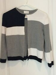 Designers Originals Multi-Color Cardigan long sleeves ribbed 1 hook closure