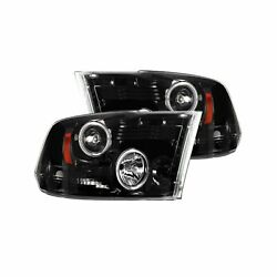 Recon 264270bkcc Dodge Ram 09-13 1500 10-14 25003500 Clear-smoked Headlights