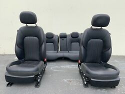 2017 Maserati Ghibli M157 Black Leather Seats with Red Stitching Front and Rear