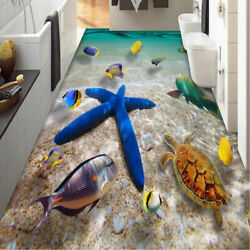 3D Starfish PVC Floor Wall Sticker Removable For Bathroom Home Decor Decal
