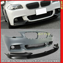 M-Performance Style Front Lip Bumper Cover M Sport For 11-13 BMW 5 Series F10