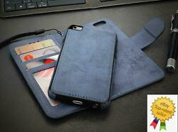 Flip Case and Back Cover 2 in 1 for Apple iPhone Magnetic Detachable Wallet