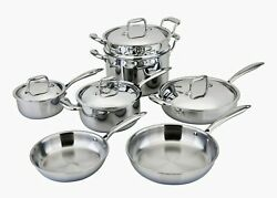 Engel-riviere All-ply 11 Piece Stainless Steel Copper Core Cookware Pot Pan Set