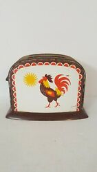 Vintage Tin Rooster Toy Toaster B01