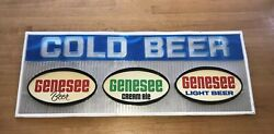 Vtg Genesee Beer Ale Sign Advertising Rochester New York Store Bar Display 4 Ft