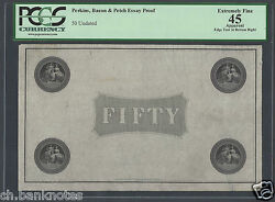 Hong Kong Perkins , Bacon ,co 50 Dollars Essay Proof Extremely Fine