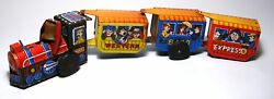 Vintage 1950 S' T.t. Japan Train Engine Wind Up Tin Toy Western 8400 Express