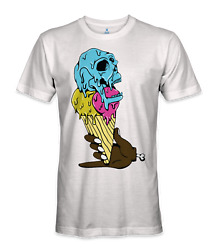 Ice cream cone with a skull on top t-shirt $15.95
