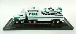Miniature Hess Racer Transport Gasoline Truck And Car W/ Light Operation And Display