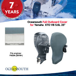 Oceansouth Outboard Storage Full Cover For Yamaha Xto V8 5.6l 25 Leg