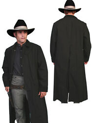 Scully Rangewear Menand039s 100 Cotton Long Overcoat Duster Coat Rw107