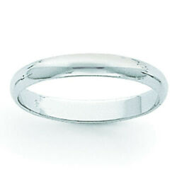 Featherweight Band Ring 14k White Gold Over 925 Sterling Silver 4mm
