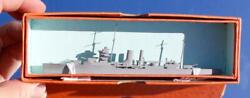 Royal Navy Hms York Recognition Bassett Lowke Waterline Model Ship Boxed And Mint