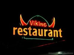 Big Double Sided Restaurant Neon Sign