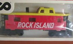 Vintage Ho Scale Trains Model Tyco Rock Island Caboose 327-10 Red Car